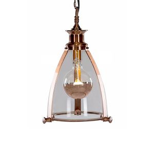 Framed Glass Small Lantern Ceiling Light