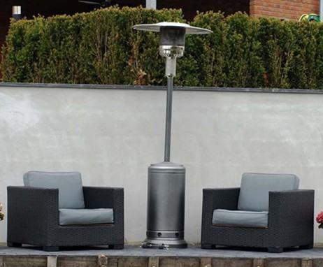 Gas Heaters - Outdoor Gas Heater Silver
