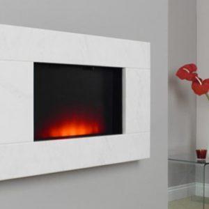 Dante Wall Mounted Electric Fire Limestone