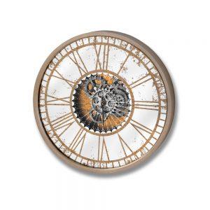 Mirrored Round Clock