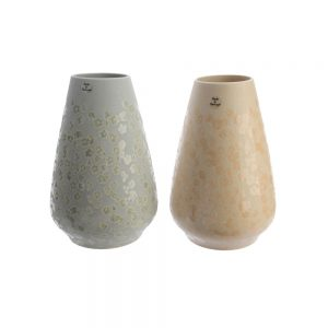 vases with flower stamp