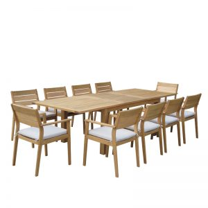 CRUZ EXTENSION DINING TABLE AND CHAIRS